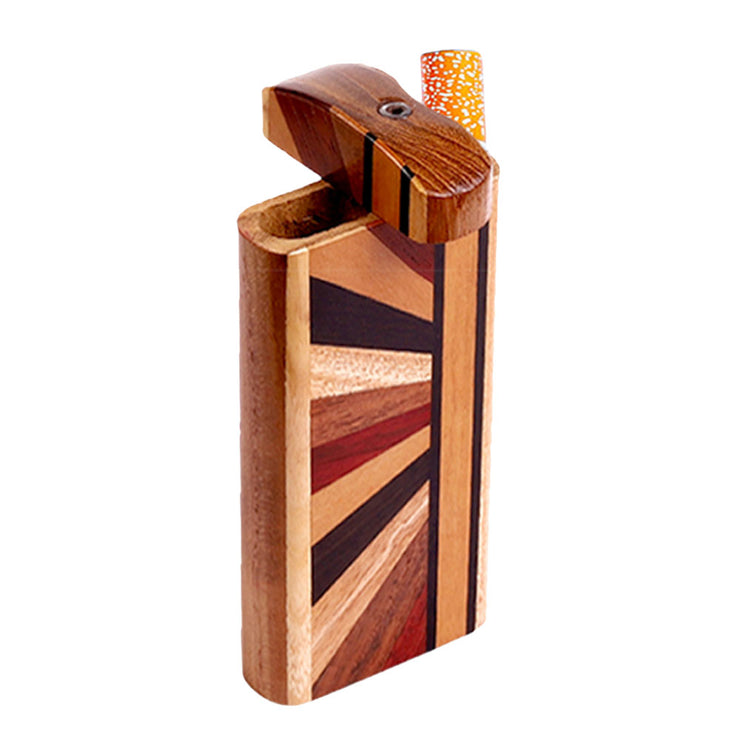Striped Wood Dugout w/ Horizon Woodworked Design | Large