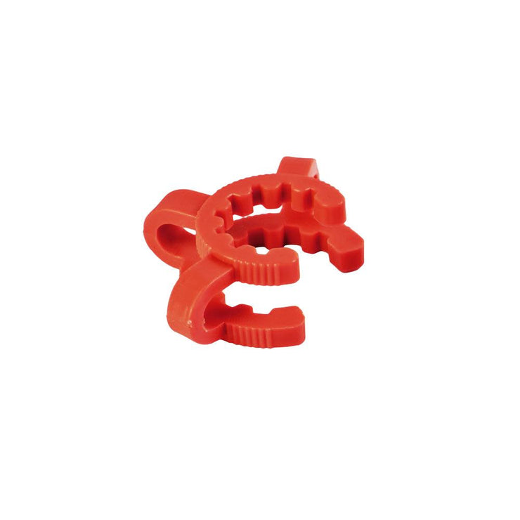 Red Plastic Keck Clip | 14mm