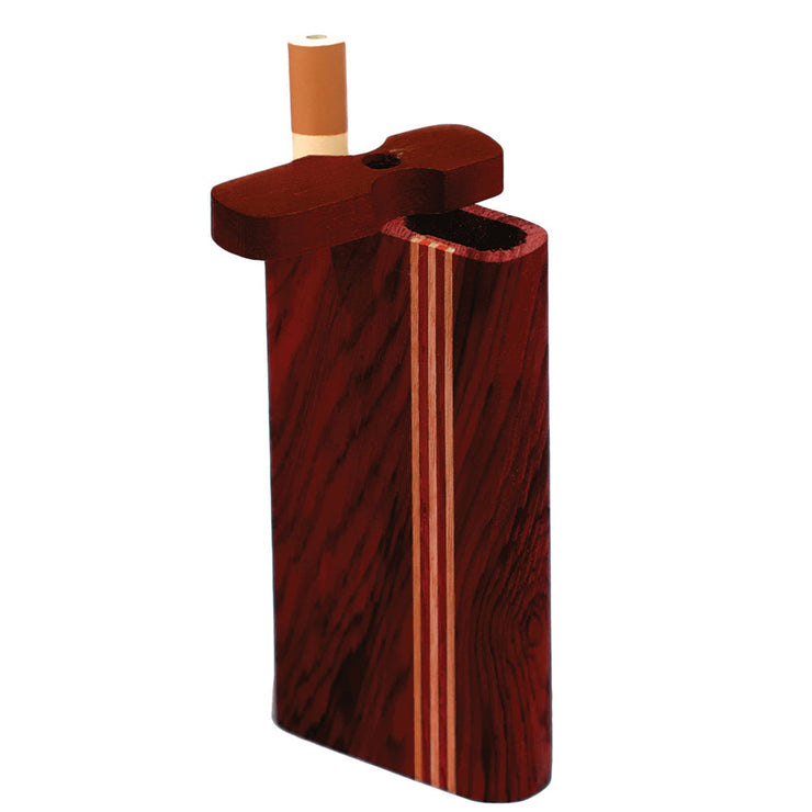 Striped Dark Wood Dugout | Large