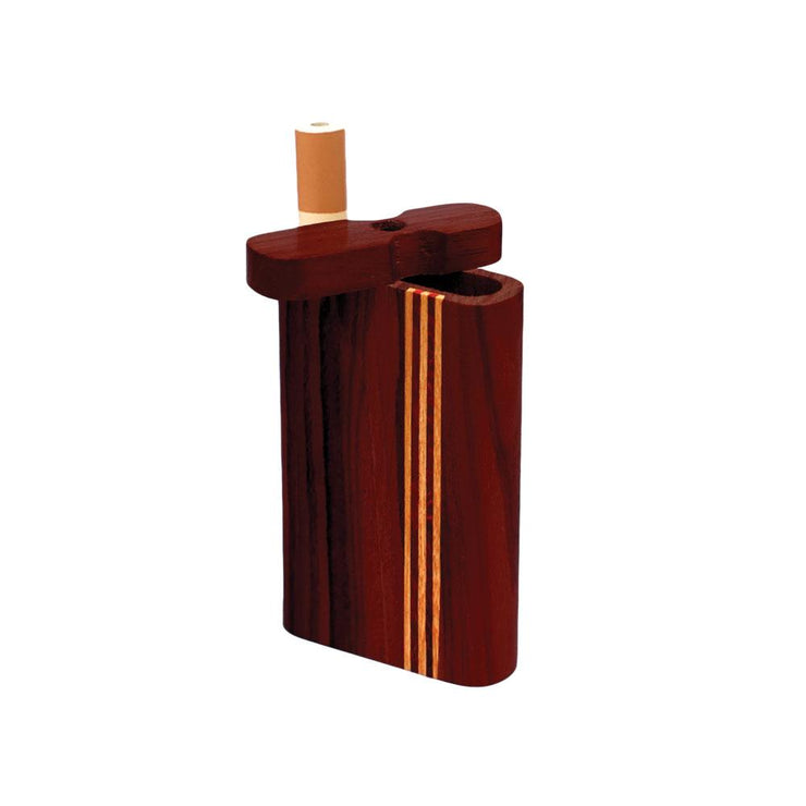 Striped Dark Wood Dugout | Small