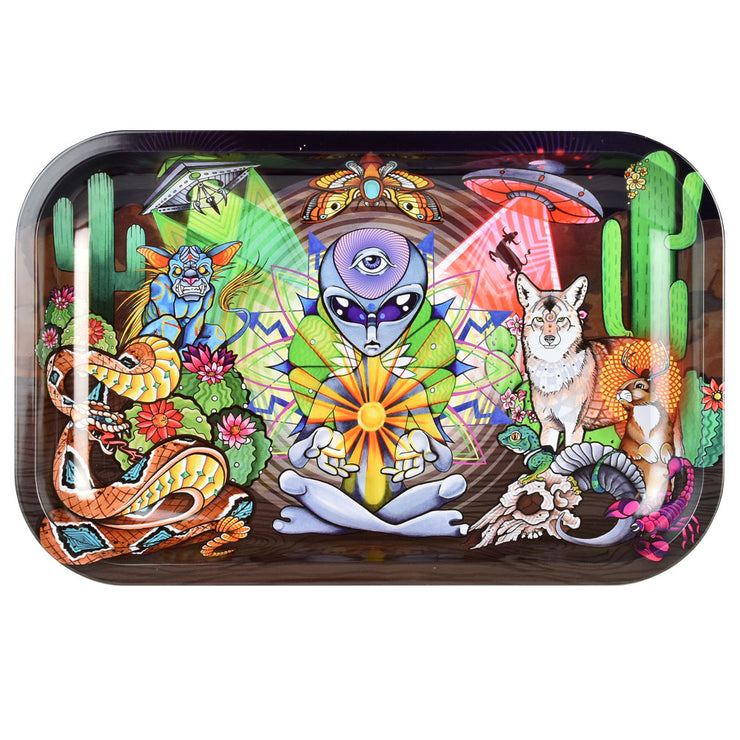 Pulsar Metal Rolling Tray | Psychedelic Desert