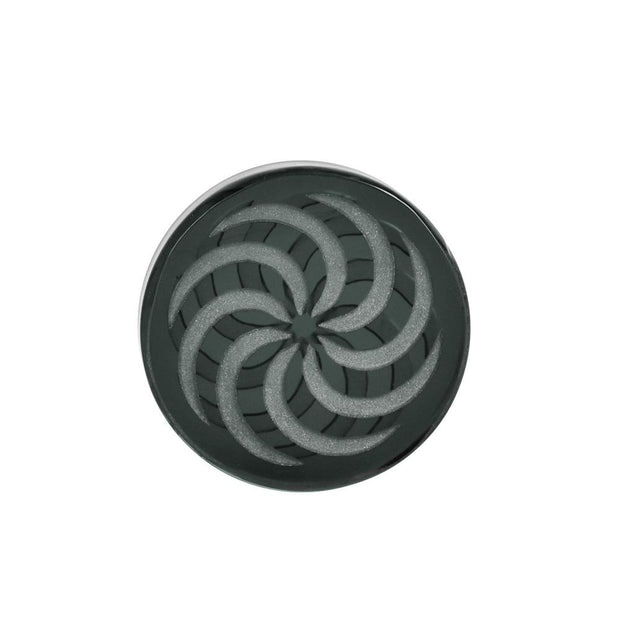 Glass Coin Spinner Channel Carb Cap | Smoke Gray