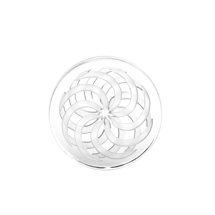 Glass Coin Spinner Channel Carb Cap | Clear