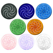 Glass Coin Spinner Channel Carb Cap | Multiple Colors