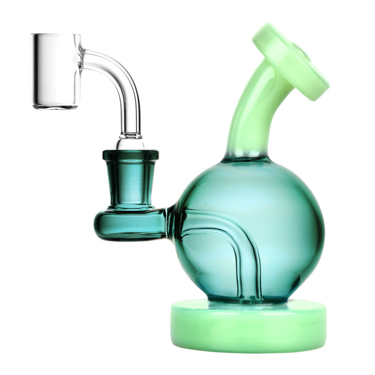 Pulsar Duality Sphere Mini Dab Rig | Teal & Green
