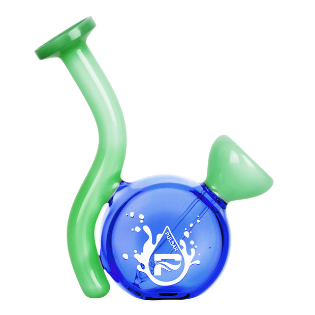Pulsar Mini Travel Fixed Bowl Bong | Blue Green