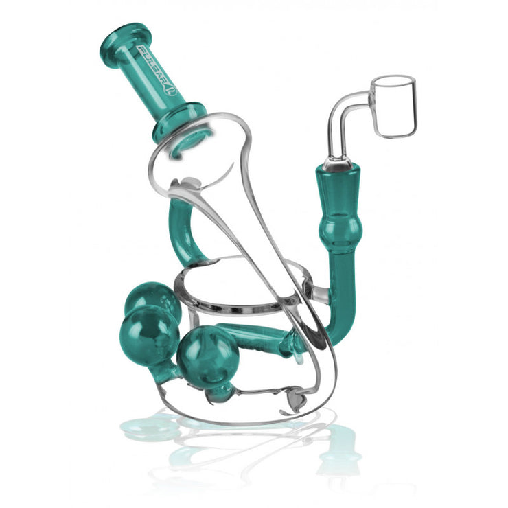 "Pulsar 3 Orb Oil Rig - 8"" / 14mm Female / Turquoise"