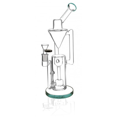 "Pulsar Gravity Recycler Waterpipe - 13""/ 14mm F / Aqua"