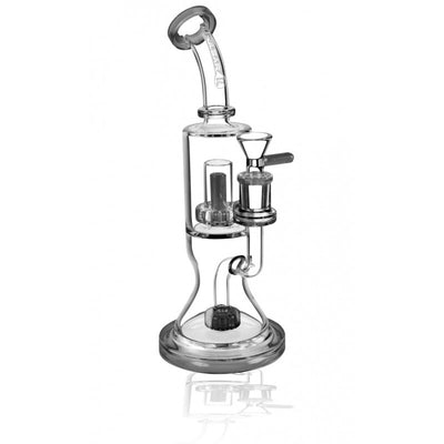 "Pulsar 2 Tier Waterpipe - 10.5"" / 14mm Female / Charcoal"