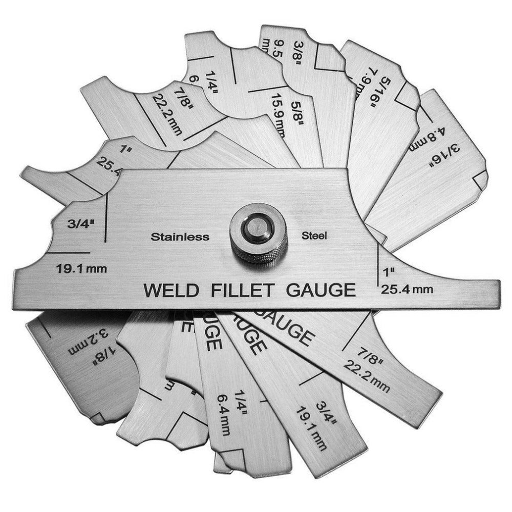 Professional 7 Piece Weld Fillet Gauge High Accuracy Lightweight Diagram Of Welding Tools Stainless Steel Inspection Test Tool