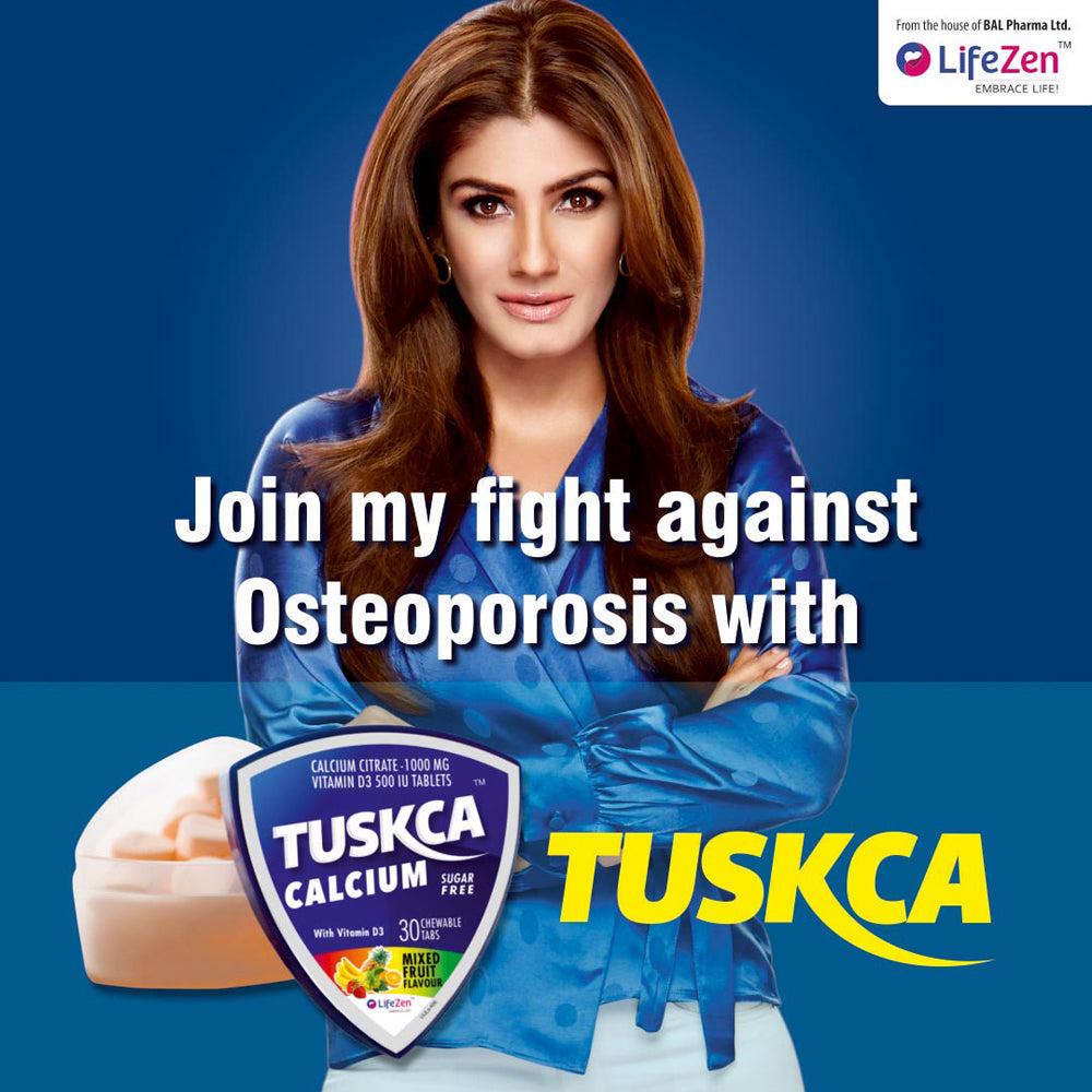 Raveena Tandon joins the fight against osteoporosis and says '#BonesTuskcaStrong'