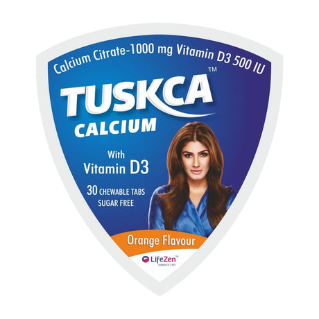 HealthCare - Tuskca Chewable Sugar Free Calcium Tablets For Woman