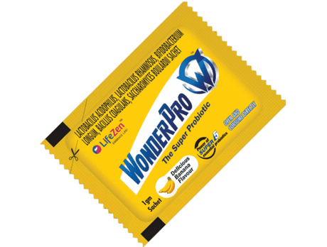 WonderPro - The Super Probiotic Supplement, ensures the overall well being of an individual through its combination of 5 good bacteria. It improves digestion, fights bloating and boosts immunity.