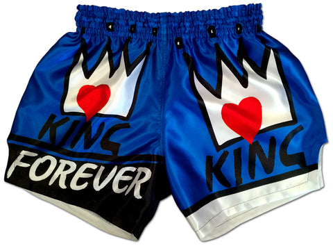 Boxing Trunks ♔ KING Forever (Royal Blue Edition)