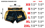 muay thai top king size chart