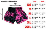 female muay thai shorts pink