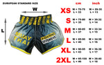 warning offensive muay thai shorts