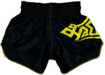 thaiboxing shorts black and yellow