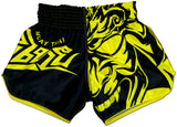 Muay Thai Shorts Black and Yellow
