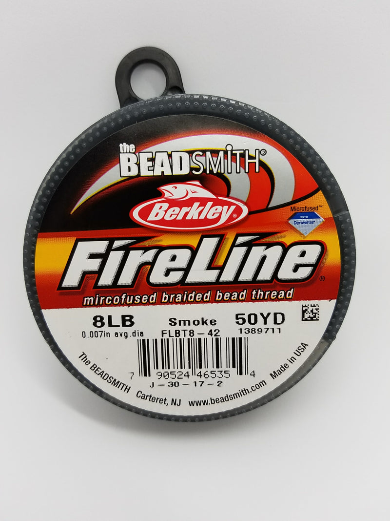 Fireline Braided Bead Thread - Smoke
