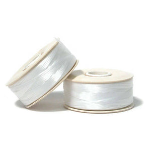 Nymo Thread White Bobbin- D