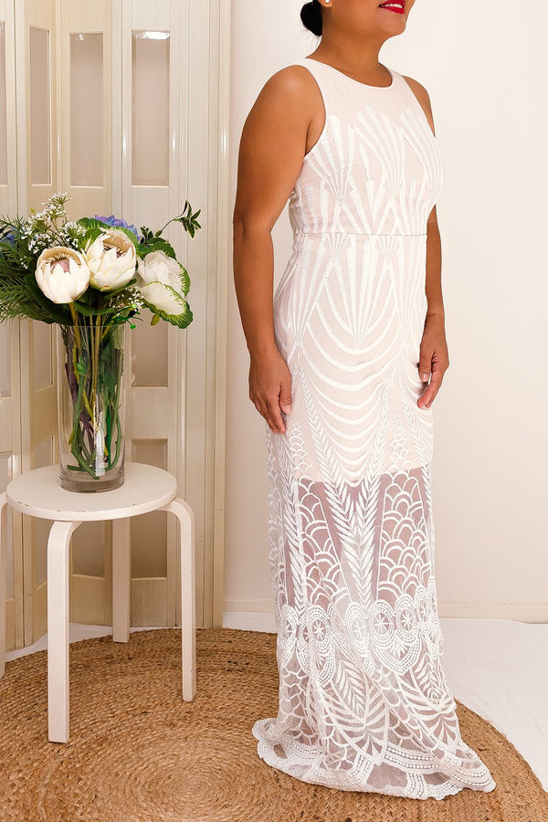 MAHALIA DRESS- CREAM - Two Sisters Instyle