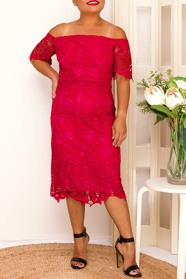DARNA LACE DRESS-PINK - Two Sisters Instyle