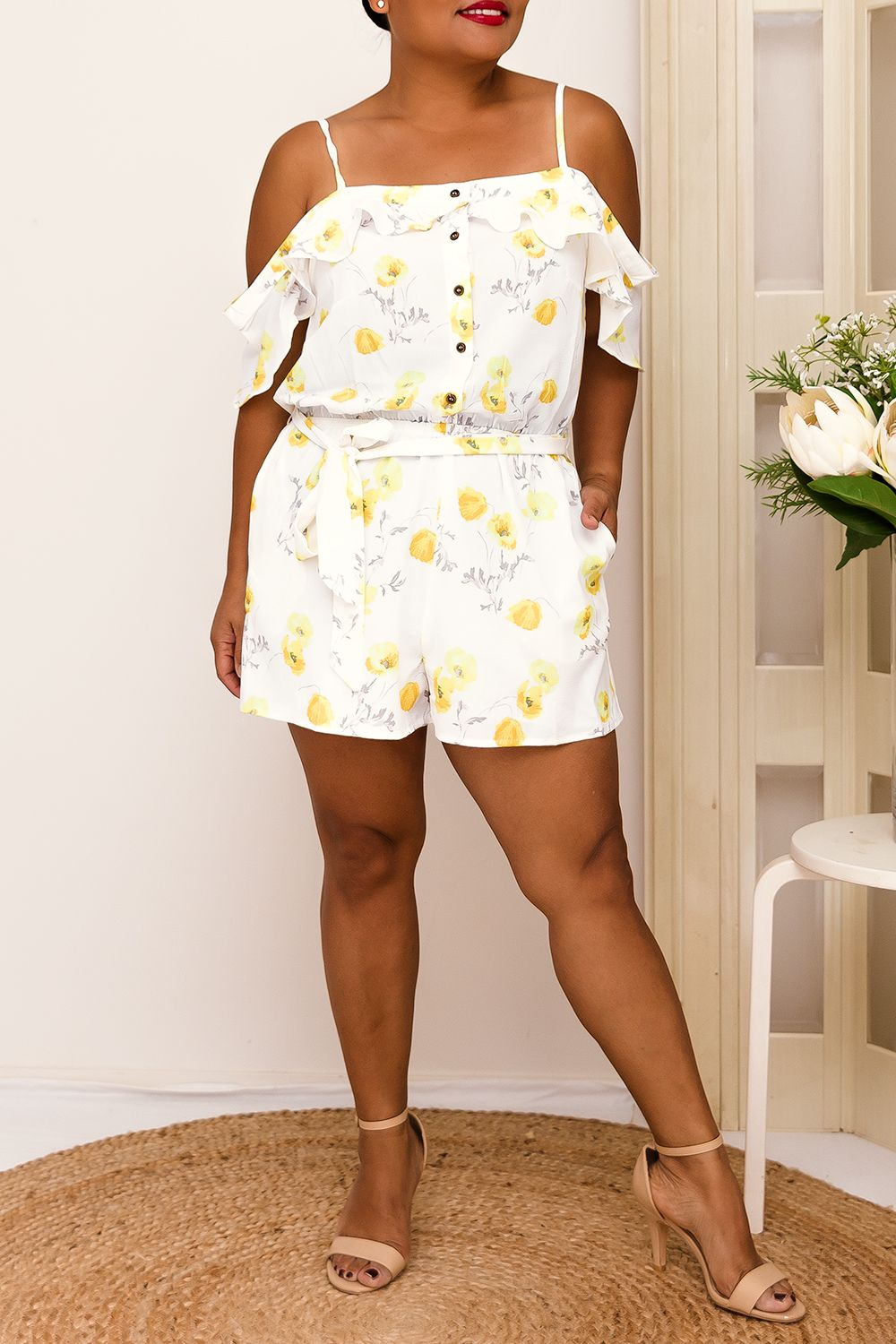 JAIME FLORAL PLAYSUIT- YELLOW-TWO SISTERS INSTYLE