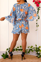 FELICIA PLAYSUIT-BLUE - Two Sisters Instyle