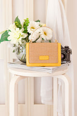 STACEY RING HANDLE BAG -YELLOW - Two Sisters Instyle