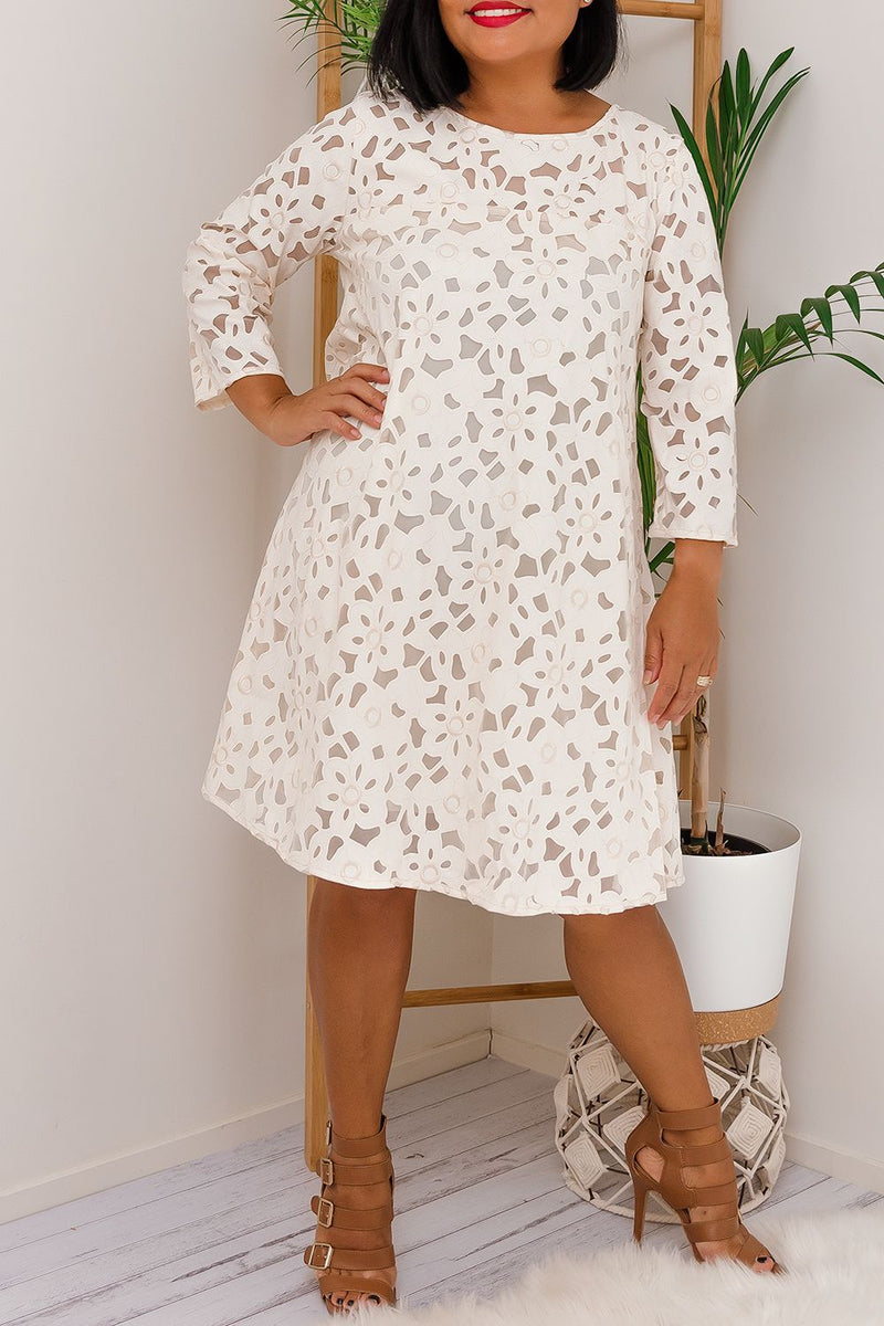 PIPER DRESS - BEIGE - Two Sisters Instyle