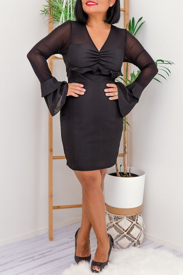 IZABELLA DRESS- BLACK - Two Sisters Instyle