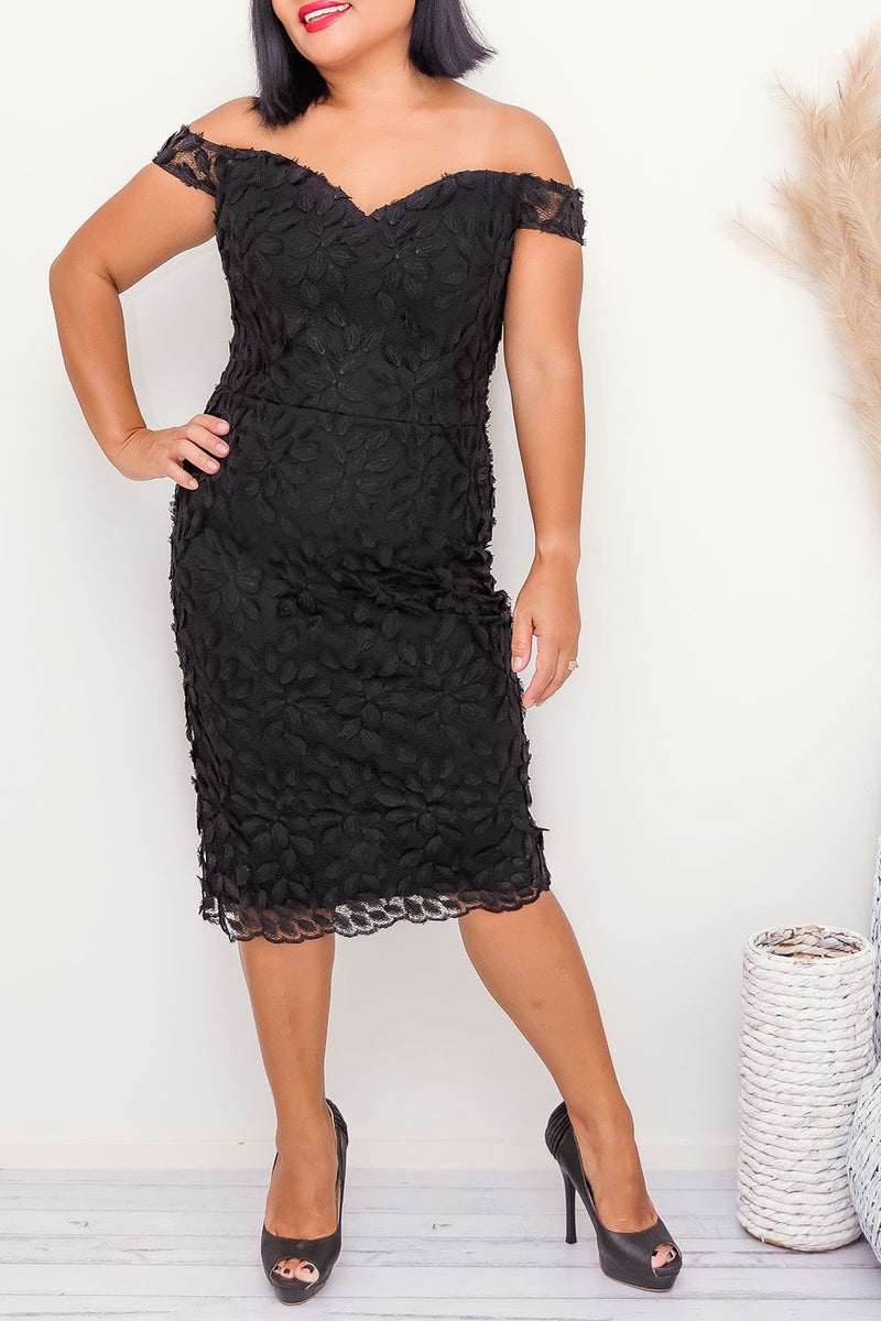 ABELLA MIDI DRESS -BLACK - Two Sisters Instyle