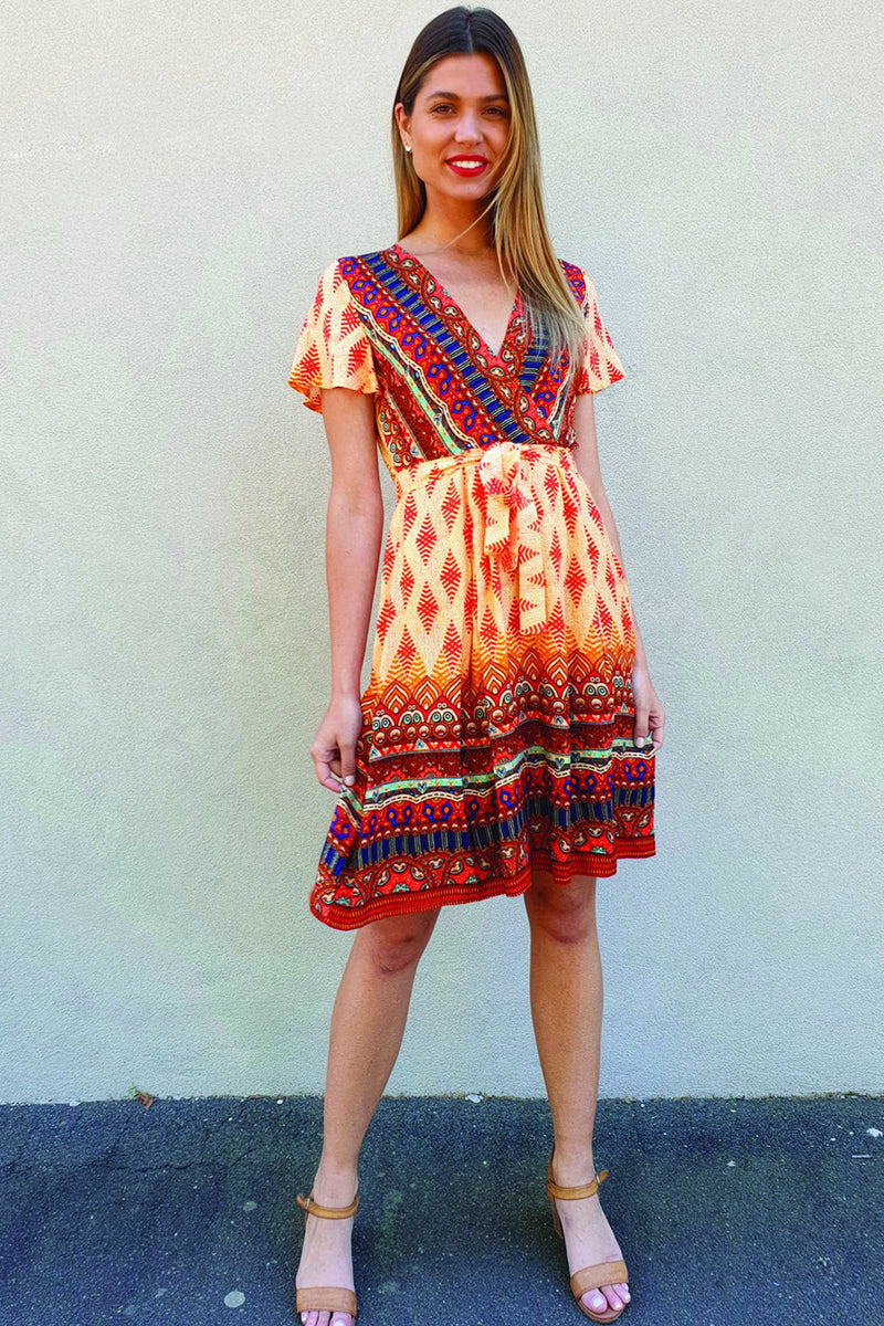 ANGELITA DRESS - ORANGE - Two Sisters Instyle