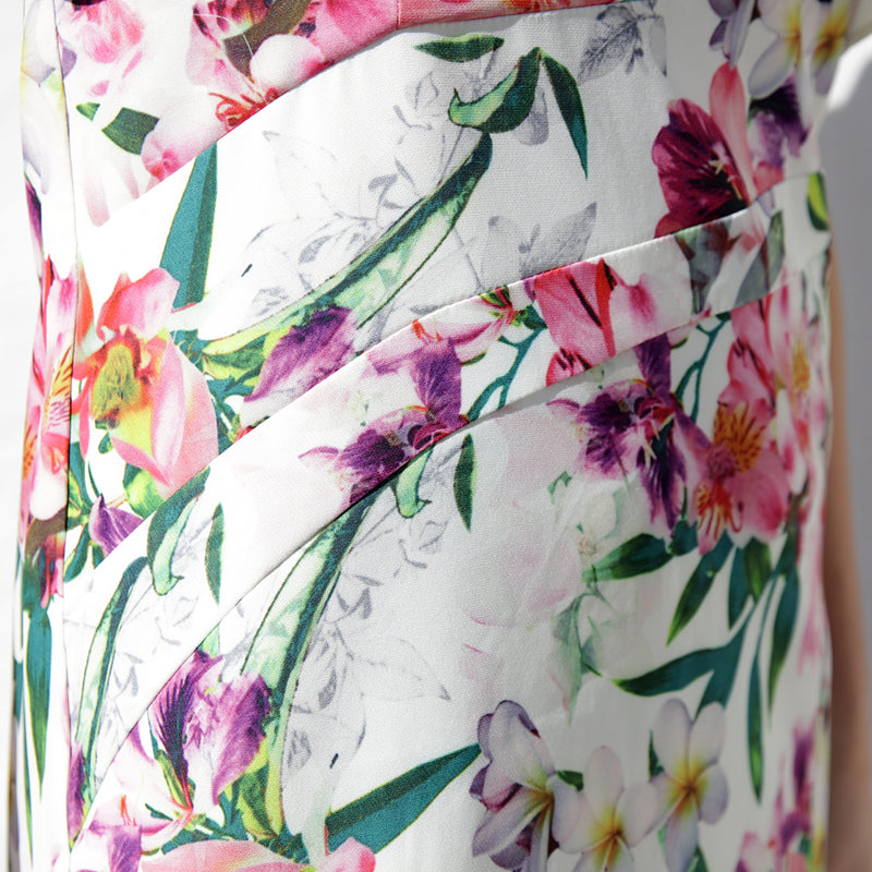 ISABEL MIDI FLORAL DRESS - Two Sisters Instyle
