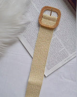 RAINA WOVEN BELT- NATURAL