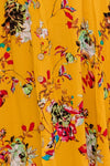 MIA FLORAL HIGH WAISTED SKIRT IN MUSTARD - Two Sisters Instyle