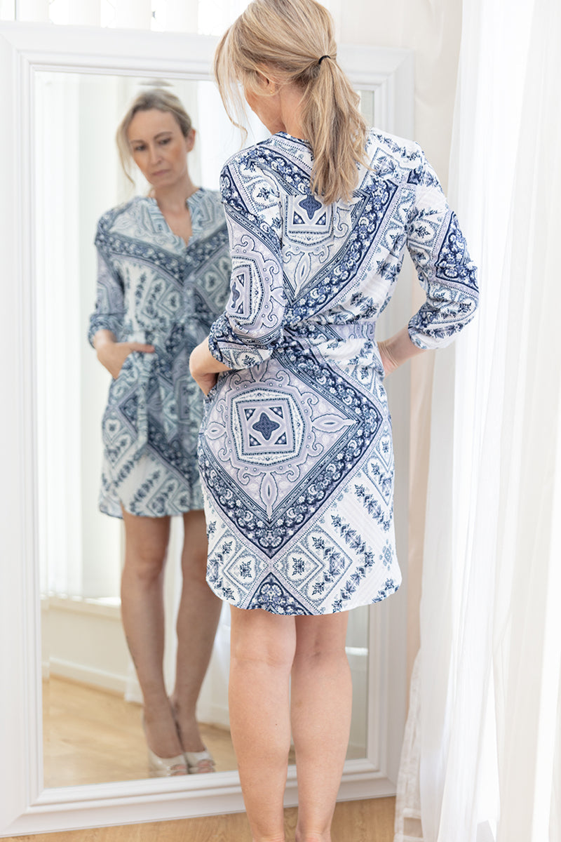 MEDINDIE DRESS-NAVY - Two Sisters Instyle