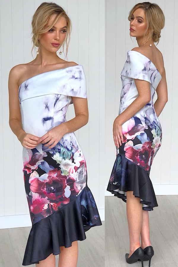 JAZMINE FLORAL DRESS IN WHITE - Two Sisters Instyle