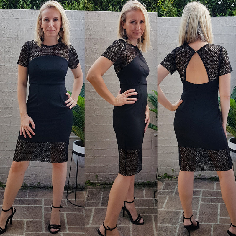 ALL THE TIME BODYCON MIDI DRESS IN BLACK - Two Sisters Instyle