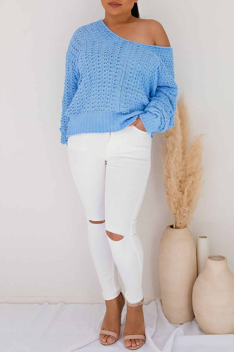 ASTRA KNIT JUMPER - BLUE - Two Sisters Instyle