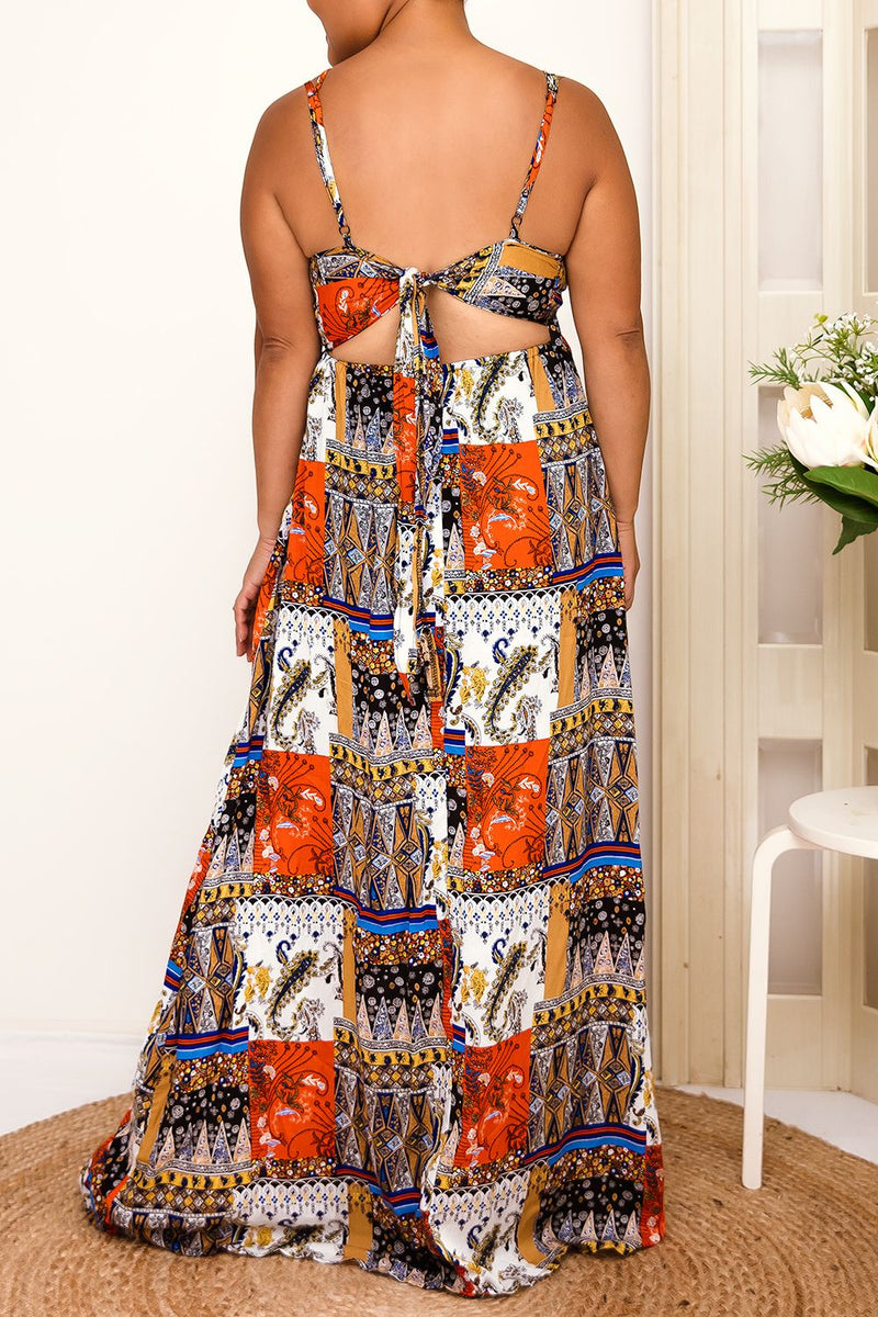 CARLA MAXI PRINT DRESS - Two Sisters Instyle