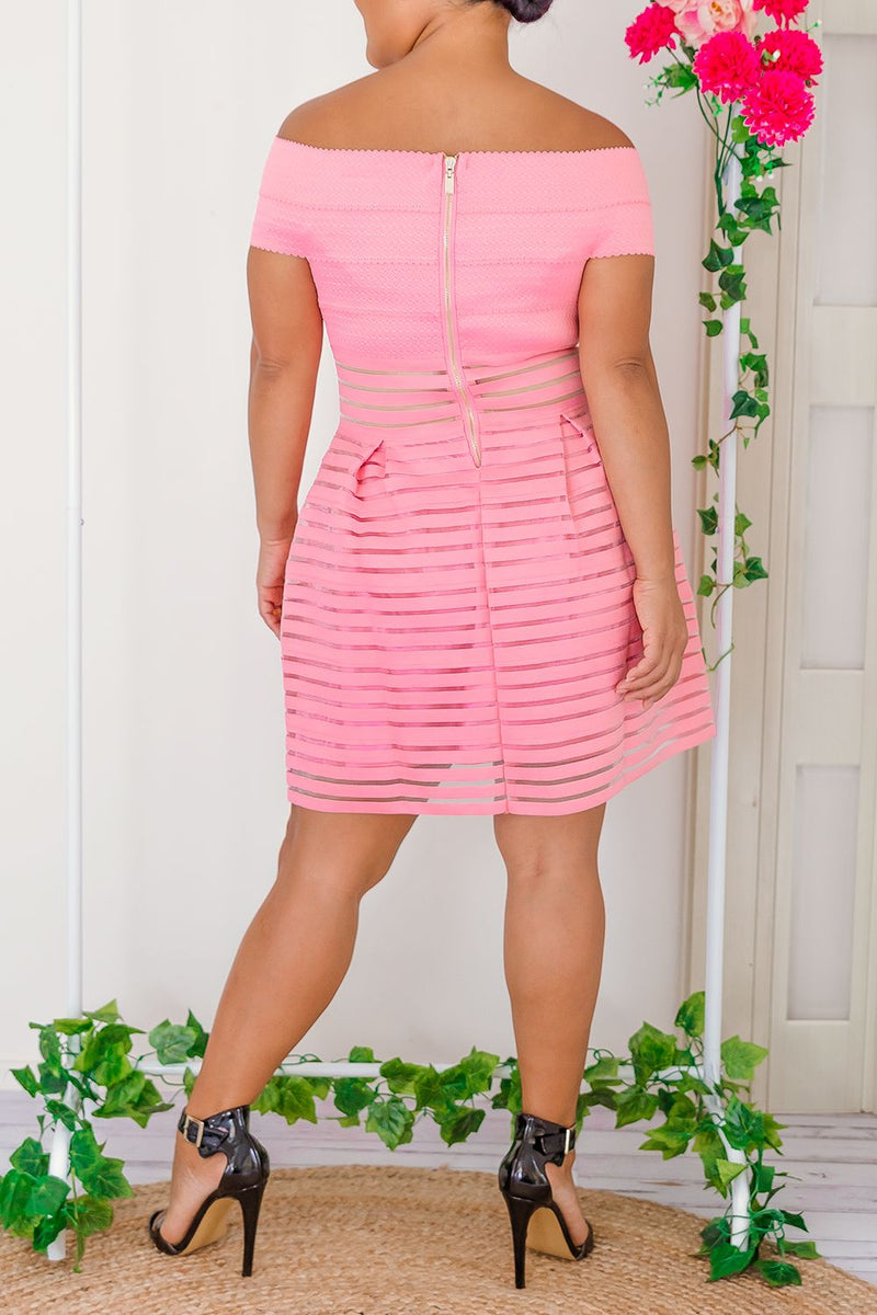 MARIANA DRESS-PINK - Two Sisters Instyle