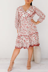 CHARLIE FLORAL DRESS -WHITE - Two Sisters Instyle