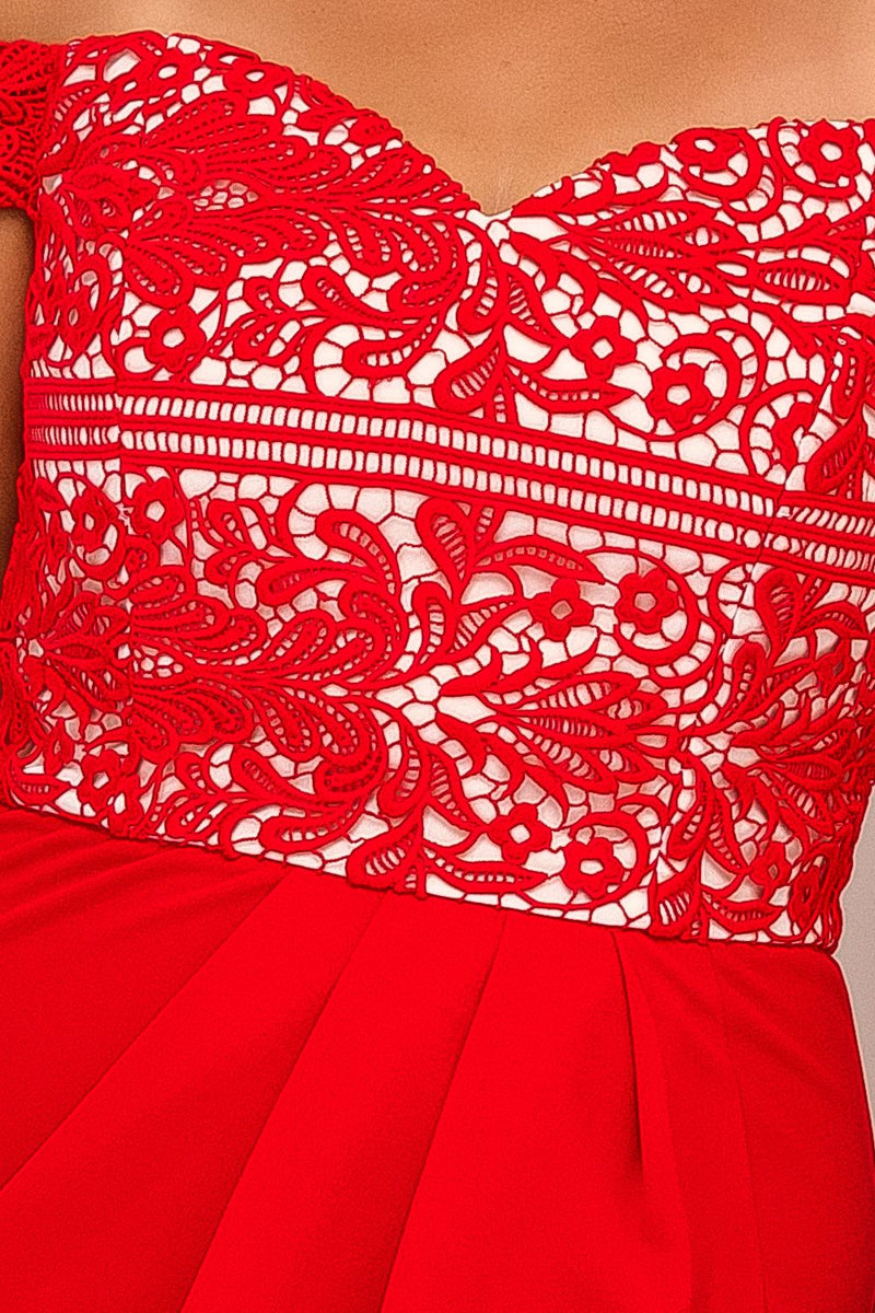 RHEA LACE DRESS-RED - Two Sisters Instyle