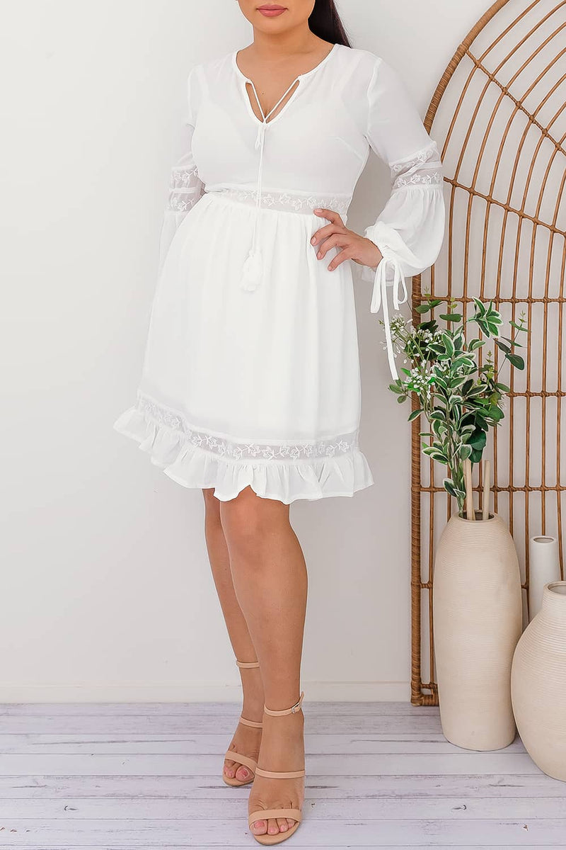 ELIZA DRESS-WHITE - Two Sisters Instyle