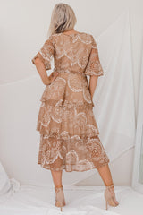 ELODIA RUFFLE DRESS -BROWN l TWO SISTERS INSTYLE