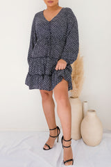 FRANKIE DRESS - NAVY - Two Sisters Instyle