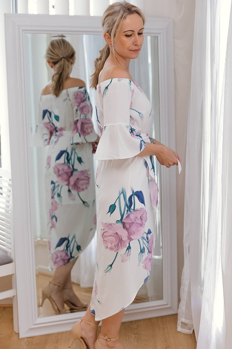 LUCY FLORAL DRESS - PINK - Two Sisters Instyle