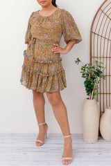 MALISA BOHO DRESS - YELLOW - Two Sisters Instyle